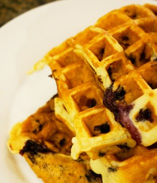blueberry-waffles-close-up-shot