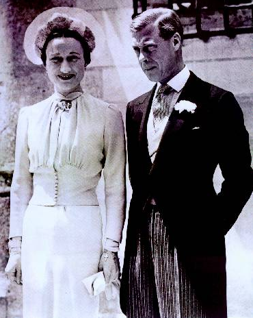 Here is King Edward VIII with his forever beloved, Wallis Simpson!