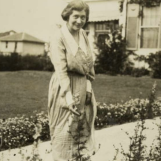 Ima enrapturing herself in the Bayou Bend Gardens project on her estate in 1945.
